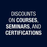Discouts on Courses,Seminars, and Certifications